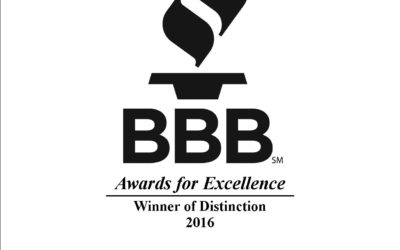 We're a BBB Award Winner Again!